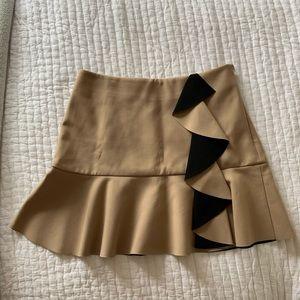 Paola crepe Ruffle skirt